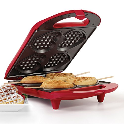 Holstein Housewares HF-09031R Heart Waffle Maker – Red