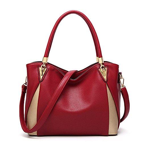 Handle Shape Sacs Look De épaule Design Mode Cuir WJNKK Sac En red à Femmes Les élégant Main Main V à Pour Top wqxFn7nI