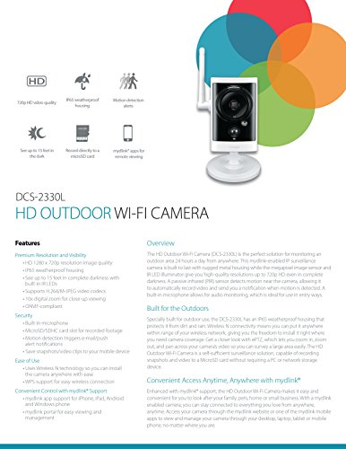 D-Link HD Outdoor Wi-Fi Camera (DCS-2330L)