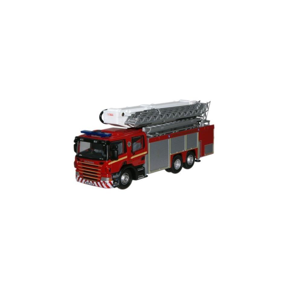 Scania Aerial Rescue Fire Truck   Merseyside Fire & Rescue   1/76th Scale Oxford Diecast