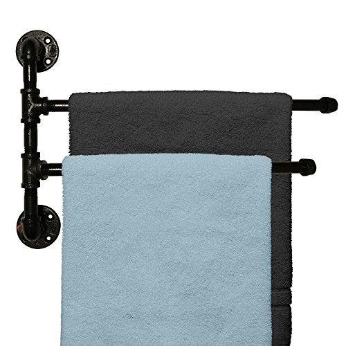 Swivel Towel Holder - Outdoor Towel Rack For Pool or Bathroom Use - 2 Arm Swivel Towel Rack 20