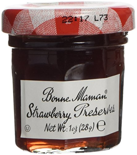 Bonne Maman Strawberry Preserve Mini Jars - 1 Oz X 60 Pcs Kosher (Mini Jelly)