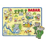 Babar the Elephant Wooden Peg Puzzle