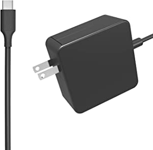 Zoravson 45W 20V 2.25A AC USB Type-C Power Supply Charger Fit for Dell Chromebook 5190 3100 3400 3380 7486 2-in-1 11 13 14 P28T P29T Laptop Power Supply Adapter Cord