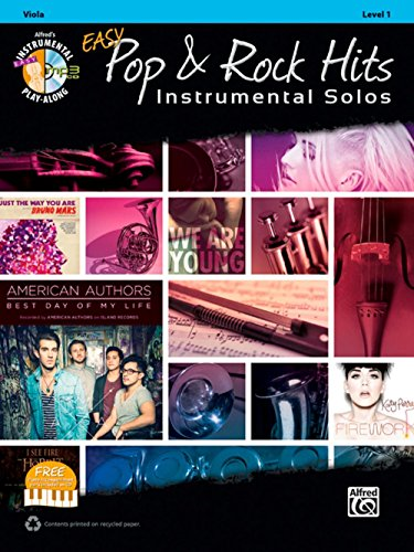 Alfred Easy Pop & Rock Instrumental Solos Viola Book & CD (Sheet Alfred Tenor Music)