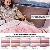 BEDSURE Sherpa Fleece Blanket King Size Pink Plush