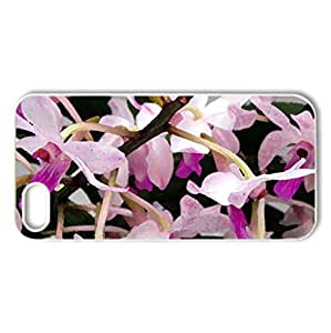 Pretty orchids - Case Cover for iPhone 5 and 5S (Flowers Series, Watercolor style, White)