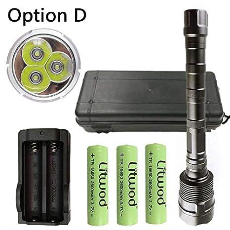 Opción D: Z30 linterna LED XM-L 3T6 potencia 3000 lúmenes 5 ...