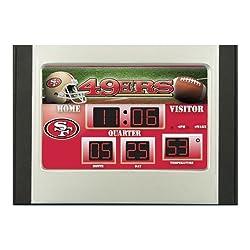 Team Sports America NFL San Francisco 49ers Scoreboard Alarm Clock, Small, Multicolored