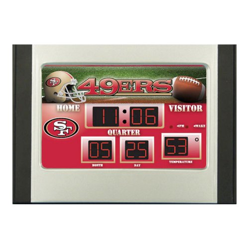 NFL San Francisco 49ers Scoreboard Alarm Clock, Small, Multicolored (Nfl Scoreboard)