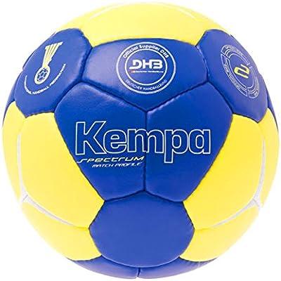 Balonmano Kempa juego de pelota - y pelota azul/amarillo DHB logo ...