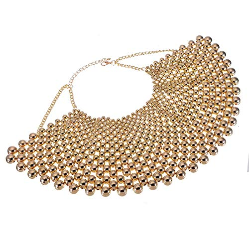 Bib Collar Necklace Christmas Gift Chunky CCB Resin Beads Chain Choker Statement Necklace Womens Fashion Jewelry Necklace