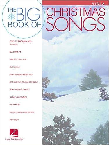 Big Book of Christmas Songs for Viola: Hal Leonard Corp ...
