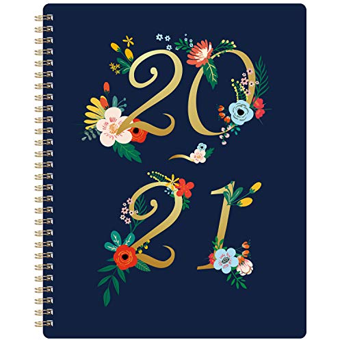 """2020-2021 Planner - Academic Weekly & Monthly Planner with Premium Thick Paper, July 2020 - June 2021, 8"""" x 10"""", Floral Cover with Twin-Wire Binding + to Do List"""