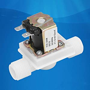 "Beduan Water Solenoid Valve, 1/2"" x 1/2"" Male Thread DC 24V, Air Water Inlet Normally Closed Washing Machine Valve"