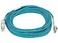Monoprice 106394 10-Meters LC/SC Multi Mode Duplex 10GB Fiber Optic Cable - Aqua