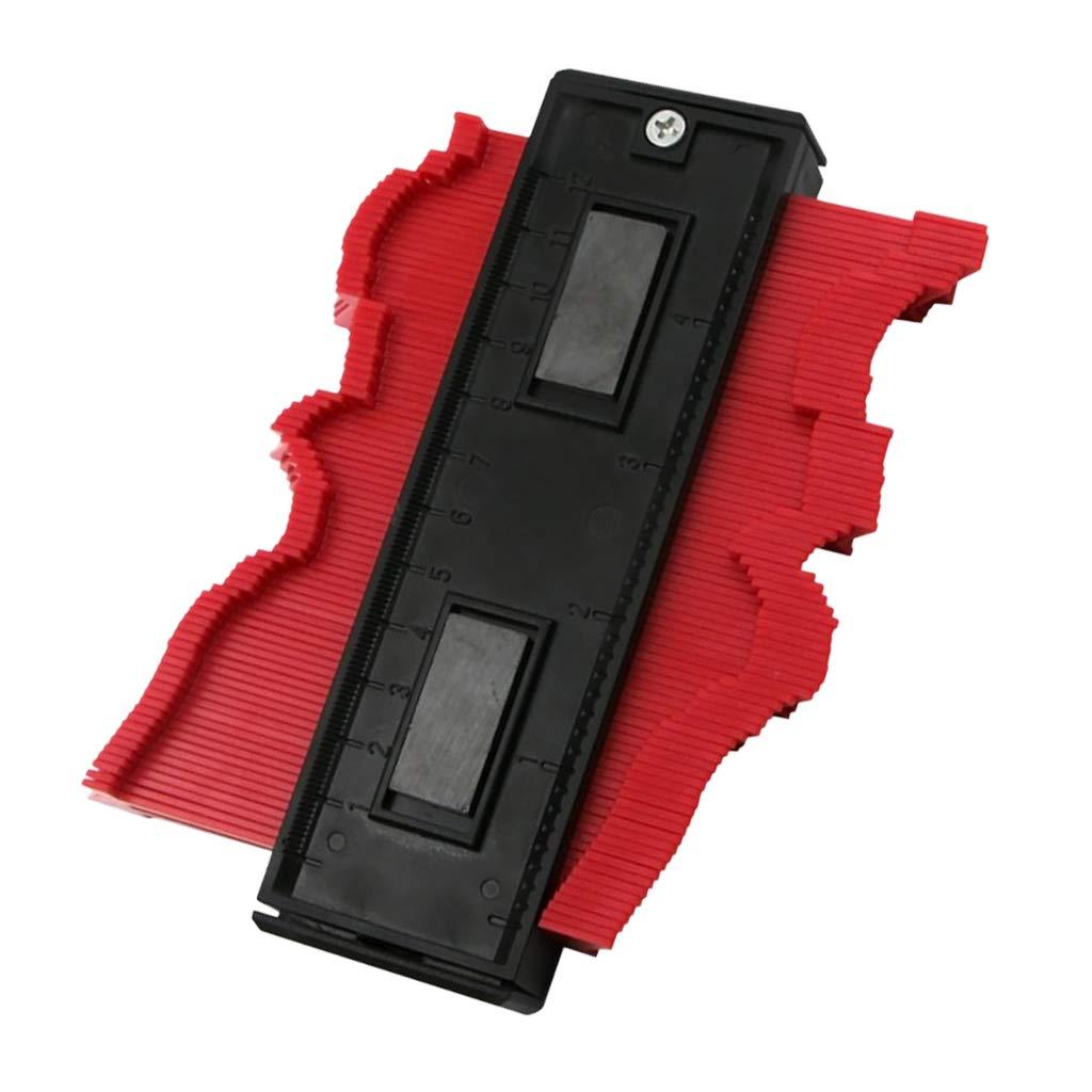 rojo Almencla Contorno Duplicador Perfil Calibrador Laminado Azulejos Bordes Concepto Ergon/ómico Profesional