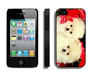 Customization Christmas Dog iPhone 4 4S Case 33 Black
