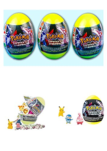 3 New Pokemon Diamond Pearl Plastic Surprise Eggs