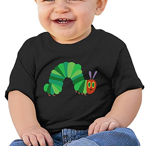 Price comparison product image NUBIA Toddler The Very Hungry Insect Short-Sleeve ShirtsT-shirts Black 12 Months