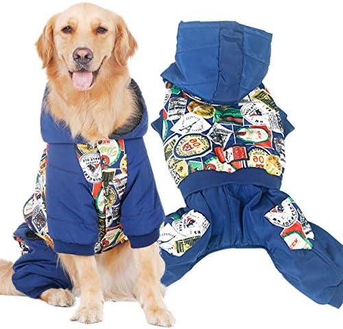 QinKingstore 犬服大きい犬秋と冬の服コートジンマオラブラドールサモエドサイド動物飼育大型犬ペット用品