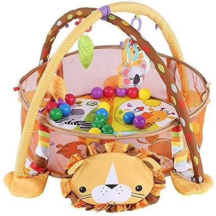 Cocoarm Baby parte Actividad colchoneta de gimnasia, manta para gatear con suave parte arco, con rejilla protectora Malla Multicolor pelotas juguete ...