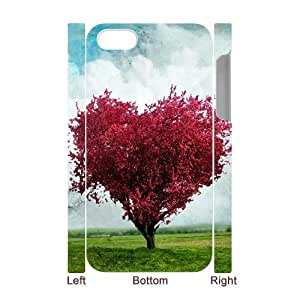 Custom New Case for Iphone 4,4S 3D, Love Tree Phone Case - HL-R657659