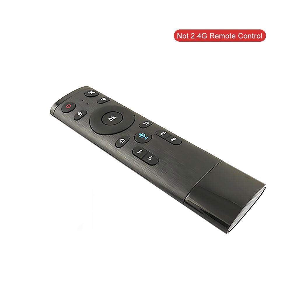 Pushally Bluetooth/GHz WiFi Voice Remote Control Air mouse con ricevitore USB per Smart Android TV Box telecomando Harmony Ultimate all in one