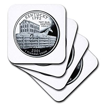 3dRose Florene Special Edition USA Coins - Kentucky Collectible Quarter - Coasters