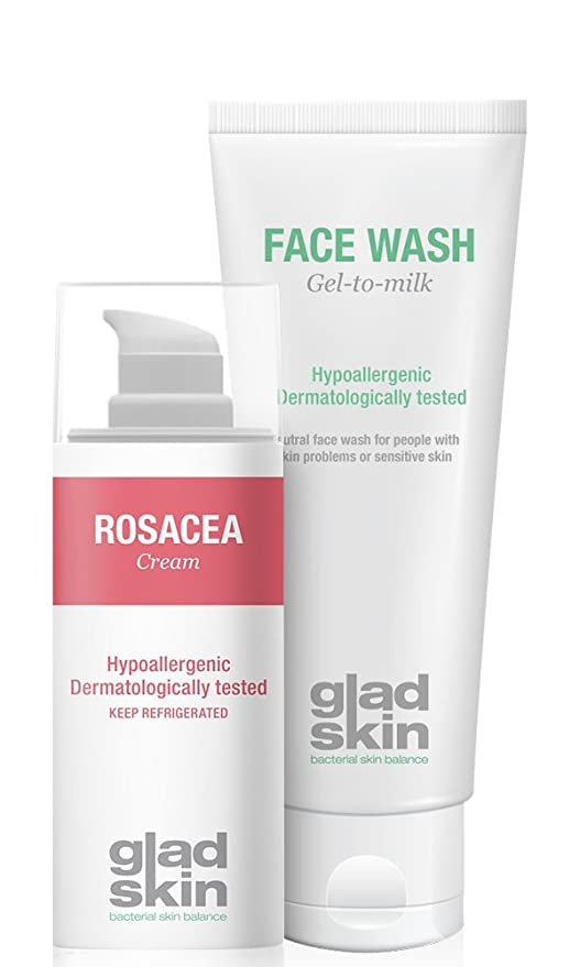 Glad Skin Rosacea Cream 30 ml y Face Wash 75 ml Cleansing Set ...