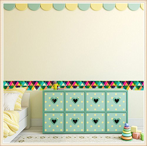Kezhy New Style Eco-Friendly PVC Border Roll Fashion Decorative Baseboard Sticker Child Room Kindergarten Glass Door Decoration