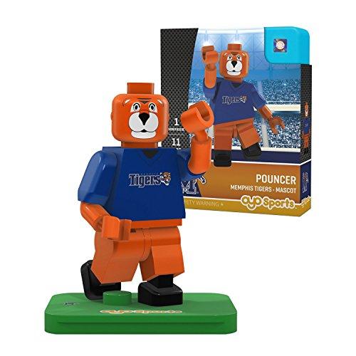 NCAA Memphis Tigers Pouncer Mascot Gen 2 Mini Figure, Small, Black (Mascot Accessories)