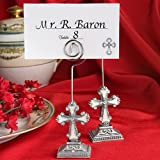 40 Elegant Cross Design Place Card Photo Holders