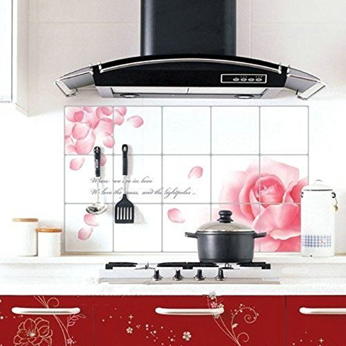 Fullkang Removable DIY Kitchen Decor House Decals Aluminum Foil Wall Sticker