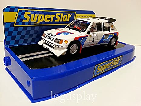 SuperSlot - Coche Slot Monte Carlo Rally Peugeot 205 T16 E2 (Hornby S3590B)