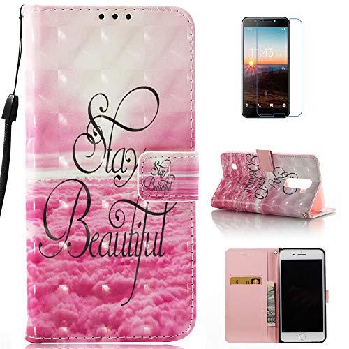 mellonlu T-Mobile REVVL Case, Alcatel REVVL Case, Alcatel Walters Case, Alcatel A30 Fierce (2017) Case, Alcatel A30 Plus Case, Luxury PU Leather Flip Wallet Card Case (Not fit T-Mobile Revvl Plus)