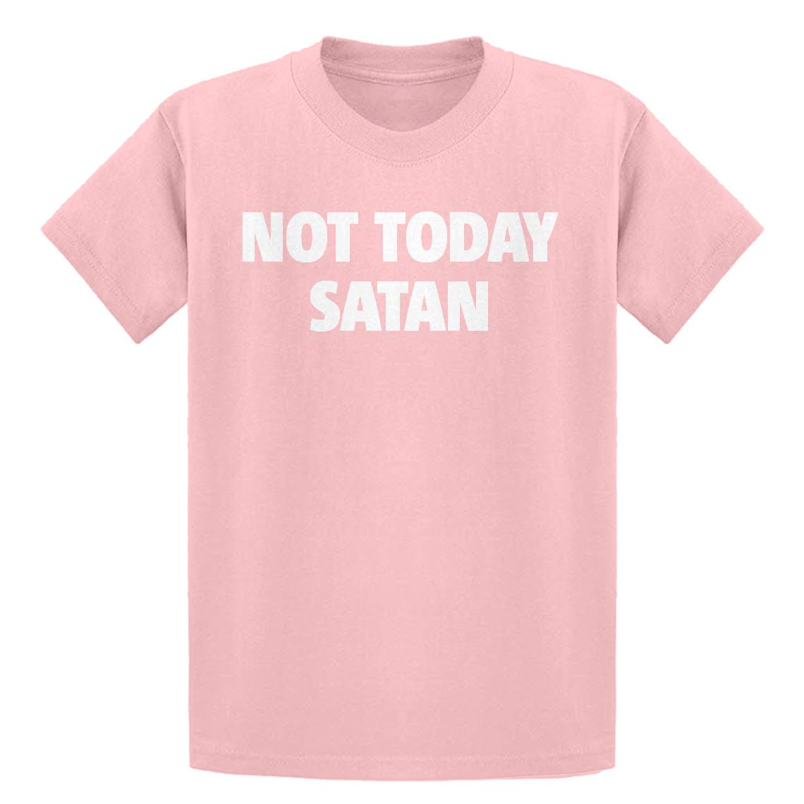 Indica Plateau Youth Not Today Satan Kids T-Shirt