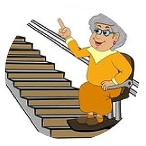 alfombrilla de ratón Abuela en la silla elevadora - ronda - 20cm