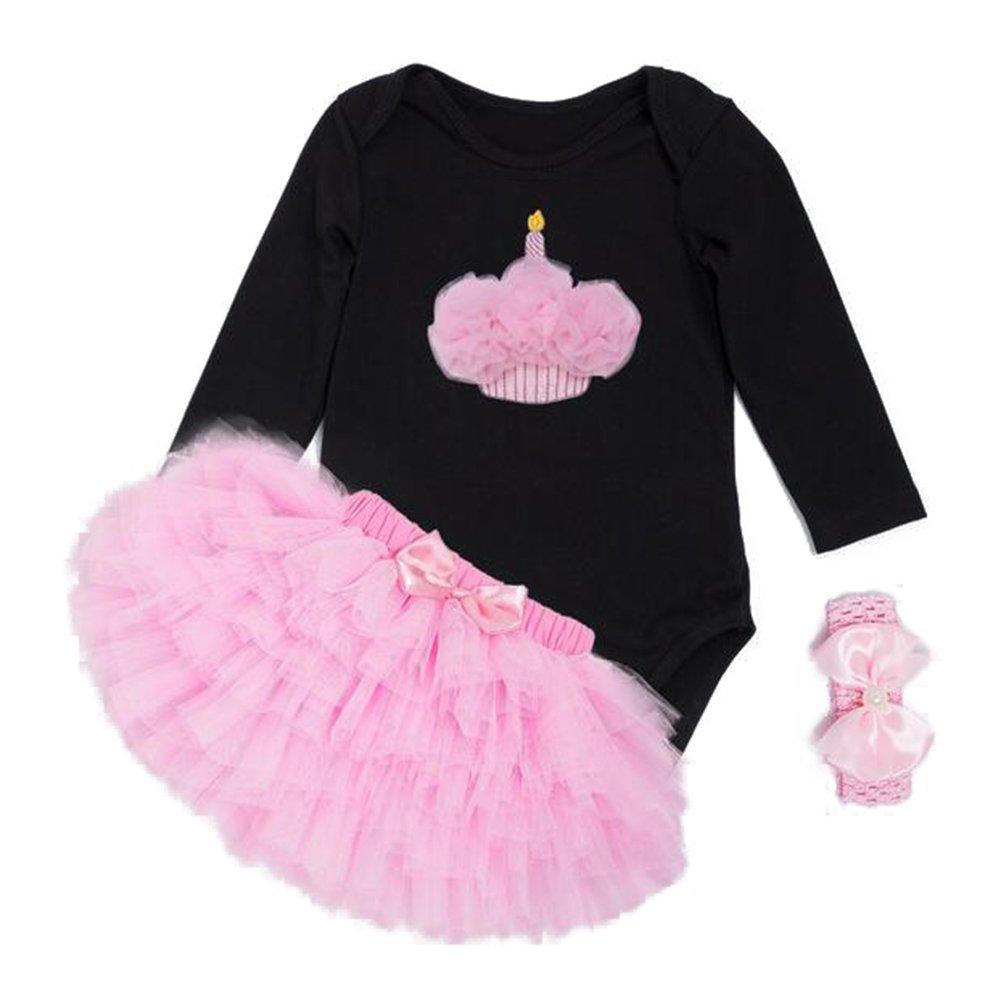 Bambina Festa di Natale - Maniche Lunghe Pagliaccetto + Fascia Costume  Vestito per Natale Halloween Feste Party 2PCS  Amazon.it  Abbigliamento 11d7e09b4be