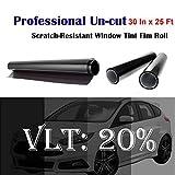 3m window tint roll - Uncut Roll Window Tint Film 20% VLT 30