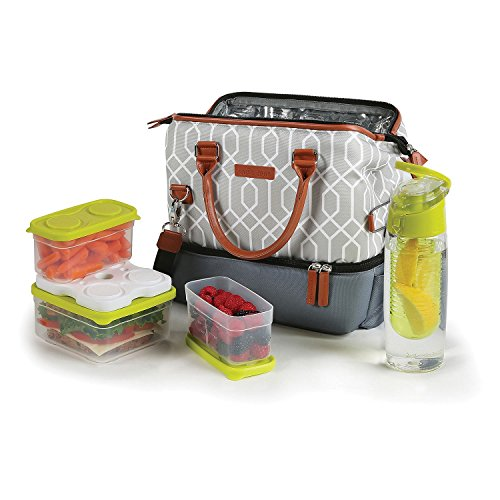 Arctic zone lunch tote set with 3 food containers and 16 for Zaffron kitchen set lunch