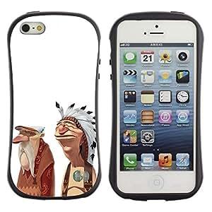 LASTONE PHONE CASE / Suave Silicona Caso Carcasa de Caucho Funda para Apple Iphone 5 / 5S / Indian American Native Friendship Art Man