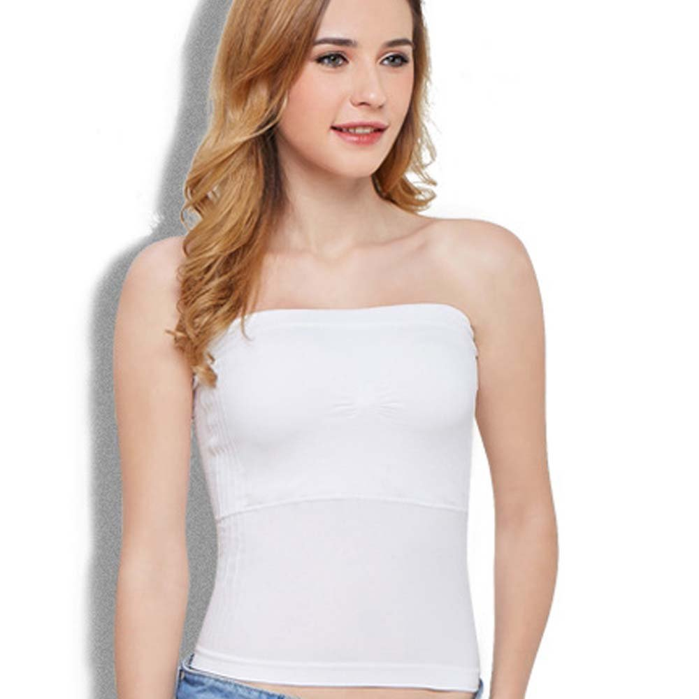 f446df629161e Metyou womens strapless tube tops with built in shelf bra stretch seamless  layer blouse jpg 1000x1000