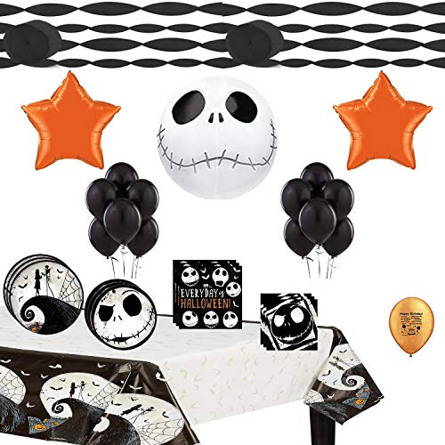 Jack Skellington Nightmare Before Christmas Party Supplies and Balloon Decoration Bundle]()