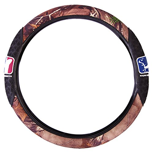 Major League Bowhunter Two-Grip Camo Steering Wheel Cover (Realtree XTRA Camo, Microfiber, Rubber Hand Grips, Sold Individually)