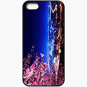 Protective Case Back Cover For iPhone 5 5S Case Building Night Lights Black