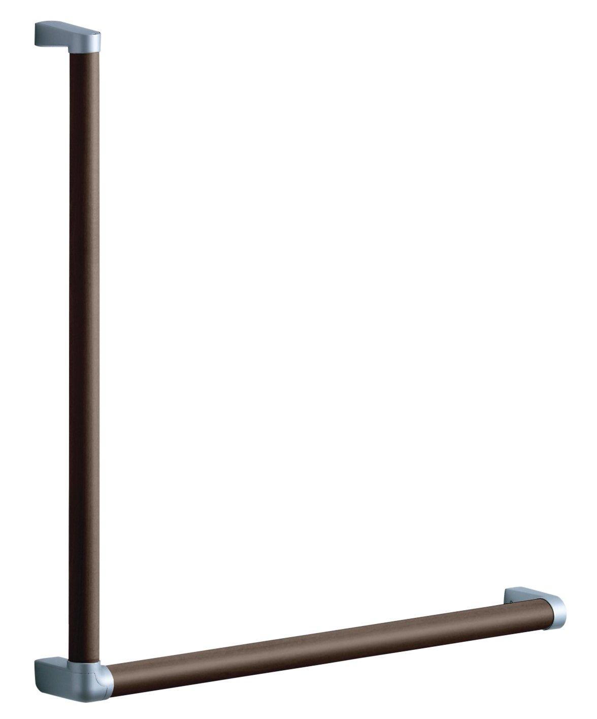 TOTO 天然木手すり 61シリーズ (Lタイプ) 61.7×61.7cm ダルブラウン YHB601LA#MWW B06XPZGHV2 ダルブラウン ダルブラウン