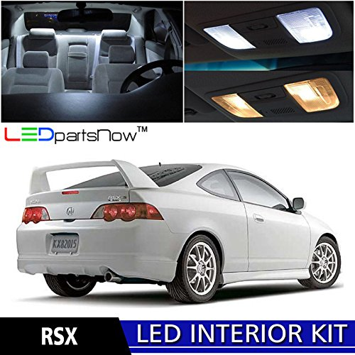 6 Acura RSX LED Interior Lights Accessories Replacement Package Kit (6 Pieces), WHITE ()