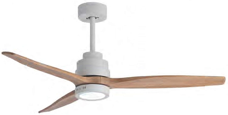 Ventilador de techo JUERIC con LED AXE color blanco Haya con mando ...