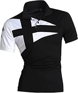 jeansian Mens Casual Slim Fit Short Sleeves Polo Shirt T-Shirt Tops U009